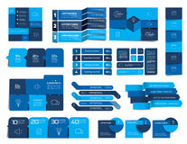 Mega set of  infographics elements, schedules, tabs, banners, charts. Royalty Free Stock Images