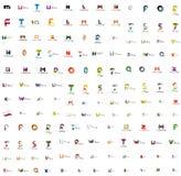 Mega set of letter logos Stock Photos