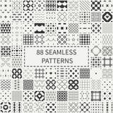 Mega set of 88 monochrome geometric universal Royalty Free Stock Images