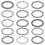 Mega set of 15 the most popular ellipse frames Royalty Free Stock Photos