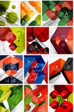 Mega set of paper geometric backgrounds Stock Photos