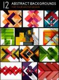 Mega set of paper geometric backgrounds Stock Image