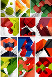 Mega set of paper geometric backgrounds Royalty Free Stock Photo