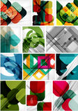 Mega set of paper geometric backgrounds Royalty Free Stock Photos