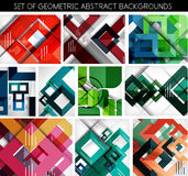 Mega set of paper geometric backgrounds Stock Image