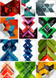 Mega set of paper geometric backgrounds Royalty Free Stock Images