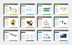 Mega set of presentation templates. Infographics for leaflet, poster, slide, magazine, book, brochure, website or print Vector Illustration