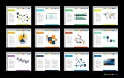 Mega set of presentation templates. Infographics for leaflet, poster, slide, magazine, book, brochure, website, print. Mega set of presentation templates Stock Illustration