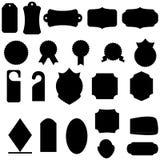 Mega set projektów elementy dla retro etykietki i faborków royalty ilustracja