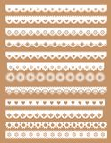 Mega set of scallop lace borders. Vector illustration in vintage style vector illustration