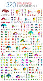 Mega set of 320 similar web universal icon and Stock Photography