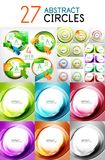 Mega set of swirl circles abstract vector backgrounds Stock Image