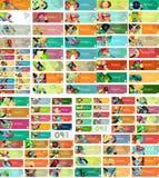 Mega set of universal web option infographic Stock Image