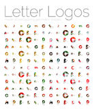 Mega set of various letter logos Royalty Free Stock Image