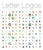Mega set of various letter logos Royalty Free Stock Images
