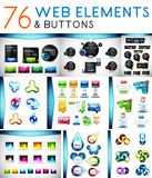 Mega set of vector web elements Stock Photography