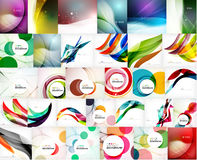 Mega set of wave abstract backgrounds Stock Photography