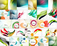 Mega set of wave abstract backgrounds Royalty Free Stock Photos