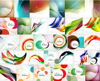 Mega set of wave abstract backgrounds Stock Image