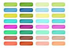 Mega set of web empty buttons in different colors Royalty Free Stock Images