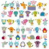 Mega set zwierzęta domowe royalty ilustracja