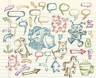 Mega Sketch Doodle Vector Set Royalty Free Stock Photo