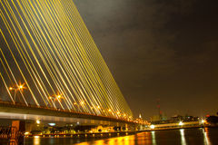 Mega sling Bridge,Rama 8 Stock Photo