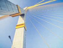 Mega sling Bridge,Rama 8, Royalty Free Stock Photo