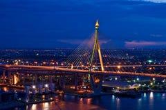 Mega Sling Bridge, in Thailand Royalty Free Stock Photo