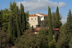 Mega Spilaio Monastery in Kalavryta. Mega Spilaio; one of the most historical monasteries  of Greece in Kalavryta Stock Image