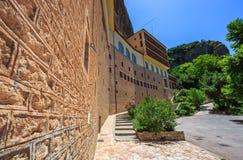 Mega Spileo lub monaster Wielki Cavern Obraz Royalty Free