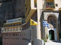 Mega spileo monaster Kalavryta Peloponnese Grecja obraz stock