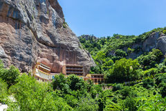 Mega Spileo or Monastery of the Great Cavern. Near Kalavrita, Peloponnese, Greece royalty free stock image