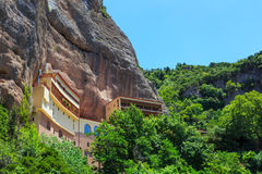 Mega Spileo or Monastery of the Great Cavern. Near Kalavrita, Peloponnese, Greece stock image