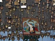 Mega spileo monastery Kalavryta Peloponnese Greece. Europe royalty free stock photography