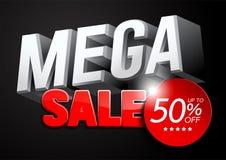 Mega sprzedaż projekt 3D ilustracji