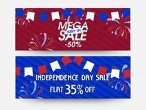 Mega sprzedaży sieci chodnikowowie dla Amerykańskiego dnia niepodległości Obraz Royalty Free