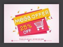 Mega sprzedaży ulotka, sztandar lub Zdjęcie Royalty Free