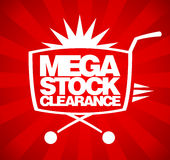 Mega stock clearance design. Stock Photos