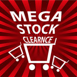 Mega stock clearance sale Royalty Free Stock Photos