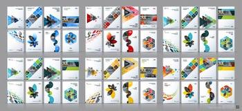 Mega uppsättning för affärsvektor Broschyrmallorientering, räkningsdesign vektor illustrationer