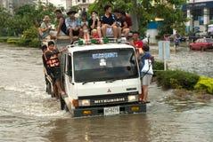 Mega vloed in Thailand 2011. Stock Afbeelding