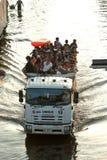 Mega vloed in Thailand 2011. Royalty-vrije Stock Afbeelding