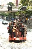 Mega vloed in Thailand 2011. Royalty-vrije Stock Foto's