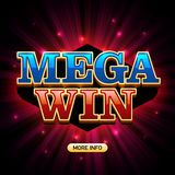 Mega Win casino banner Royalty Free Stock Photography