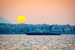 Mega-yacht fotografia stock