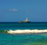A mega-yacht in the grenadines Royalty Free Stock Photos