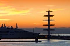 Mega-yachts Royalty Free Stock Photos