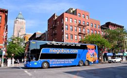 Megabus in New York City Stock Photography