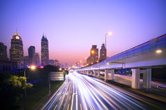 Megacity Highway Stock Images